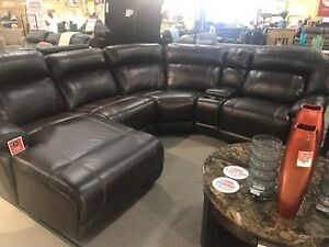 Brick Brown leather couch- like new!
