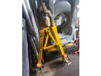 Single man towing dolly a frame