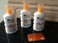 Garnier Ambre Solaire Kids sun cream (spray), factor 50+ and €5 Easyline telephone card