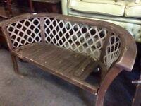 REDUCED cast iron garden bench