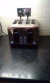 Copper kettle, 4 slice toaster bread bin and cannisters excellent condition from smoke free home.
