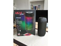 Akai A58036 Vibes Bluetooth LED Speaker, Stereo Surround Sound - Black