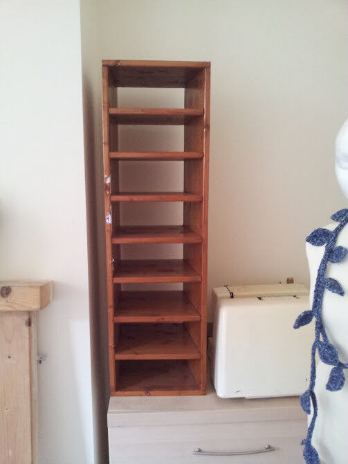 Wooden shelving unit, with shelves that fit A4 paper, files, documents,