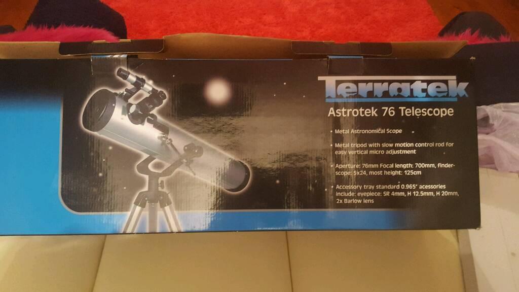 Terratek 76 astronomical telescope. Brand new in box