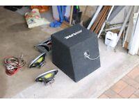 Alpine sub woofer plus speakers
