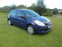 2007 renault clio 1.2 5 door full years mot 74000 genuine miles