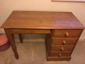 Dressing table solid pine
