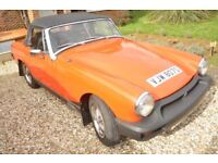 MG Midget 1500. 1978 good condition, new tyres long MOT