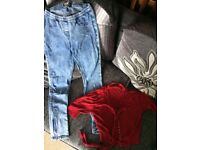 Size 10 women's warehouse cardigan and new Look jeggings
