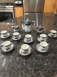 Vintage Japanese Dragonware Tea Set