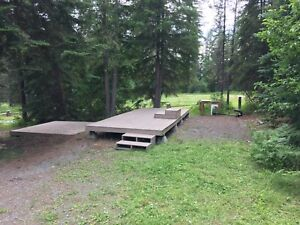 Large RV sites for lease, near YAHK BC annually/monthly