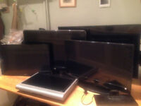 "5 x Flatscreen TV's - Spares or Repair 42"" SAmsung Smart LED tv, 37"" Phillips LCD +3 more"