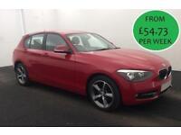 £235.34 PER MONTH STUNNING RED 2014 BMW 116 2.0TD SPORT - 5 DOOR MANUAL DIESEL