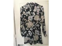 Floral Play suit long sleeve