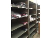 JOBLOT Industrial Shelves/racking (approx 150) – NO UPRIGHTS