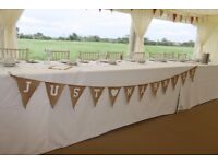 Just Married Hessian Bunting
