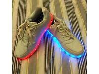LED Light up trainers - Electric Styles Size 4.5
