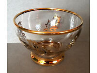 gold embossed glass dessert bowls