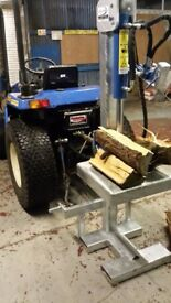 Log splitter, PTO, engine or hydraulic options available, log holder