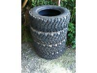 Insa Sahara mud tyres 215/75r15