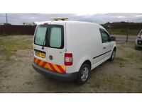 Vw caddy c20 tdi s.w.b. 1900cc diesel , 2009-59-reg, new mot on purchase, only 110,000 miles,