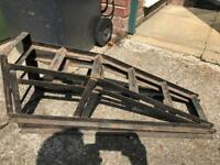 Car Ramps plus two Axle Stands. Reposted due to time waster