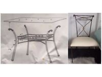 Mark Webster Glass & Bronze Dining Table & 6 Chairs FREE DELIVERY 507