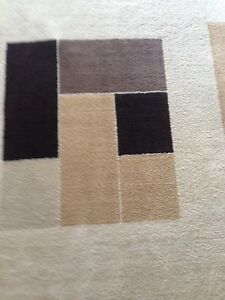 Beautiful large modern area rug with two new door mats!!