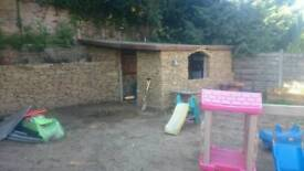 Get rid ur old wooden shed build stone one