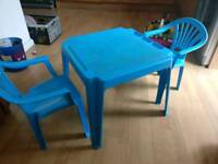 Small child's table and chairs