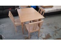Ex Display John Lewis Alba Dining Table & 4 Julian Bowen Rufford Chairs Ex Cond Can Del Collect NG17