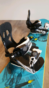 Stepchild Corporate Board. With bindings, helmet, goggles, bag.