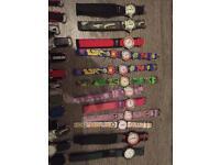 Joblot 25 children's watches