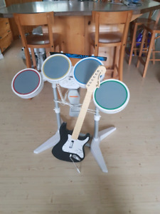Rock Band guitar and drums for Wii