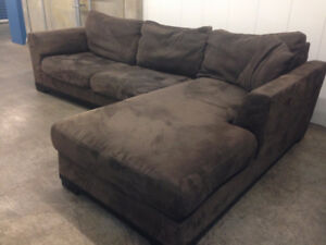 Microfiber Sectional  -  Delivery