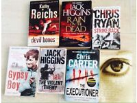 70+ Crime Thrillers of Popular authors- £1 each or 3 for £2.00