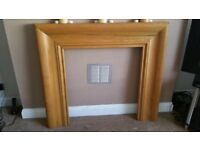 Lovely wood fireplace surround