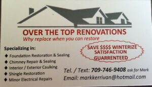 Over the Top Renovations