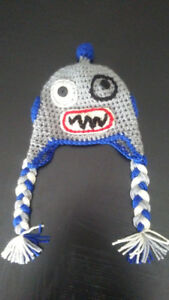 Infant (6-12 mo) Crochet Robot Hat