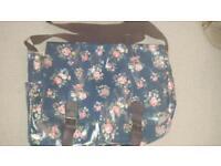 Large Floral oilcloth satchel