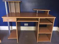 Excellent beech-effect computer desk