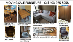 Moving sale furniture and appliances