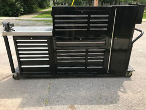 Homak tool box,on custom built frame $1900.00 OBO