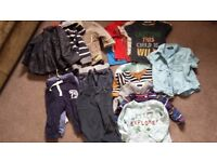 Boys 6 - 9 month baby clothes bundle including coats, jeans, t-shirts, jumpers