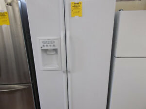 Side by side fridge with ice and water. 90 day warranty. $699.