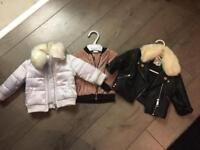 Baby girl river island jackets