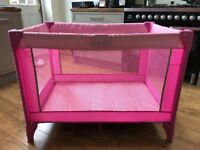 Hauck Travel Cot/ Play Area - Pink