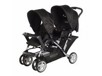 Graco Stadium Duo Tandem Pushchair with raincover - Excellent condition