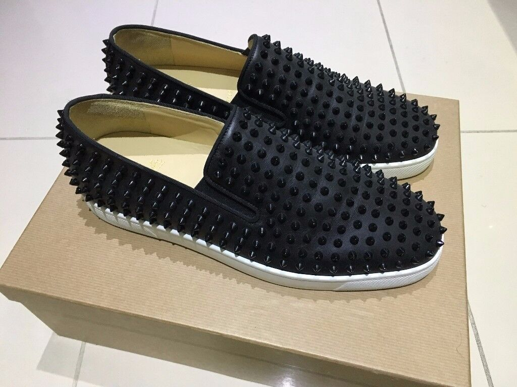 c9fa22f6c98d australia 100 authentic limited edition christian louboutin nono flat  spikes slip ons trainers sneakers f7155 18873