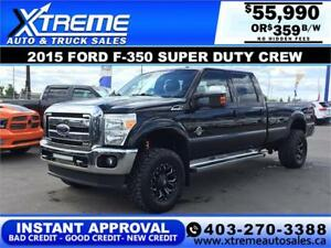 2015 Ford F-350 LARIAT DIESEL LIFTED *INSTANT APPROVAL* $249/BW